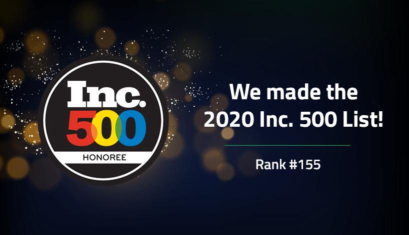 Lateetud ranked #155 on Inc. Magazine 2020 Inc. 500 list of America's fastest-growing private companies.